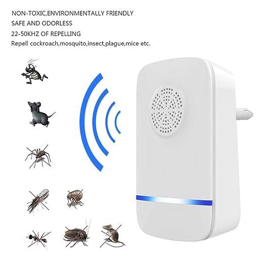 LZMIN: Repelente de plagas ultrasónico, Repelente de Insectos y roedores electrónicos para micrófono, cucarachas, bichos, Pulas, Mosquitos, arañas.
