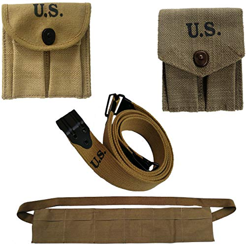 World War Replica M1-Carbine-Khaki-Canvas-Magzine pouc+Thompson for sale  Delivered anywhere in USA