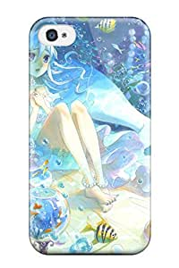Tpu Case Cover For Iphone 4/4s Strong Protect Case - Animal Barefoot Bubbles Fish Kyouya Kakehi Original Under Design