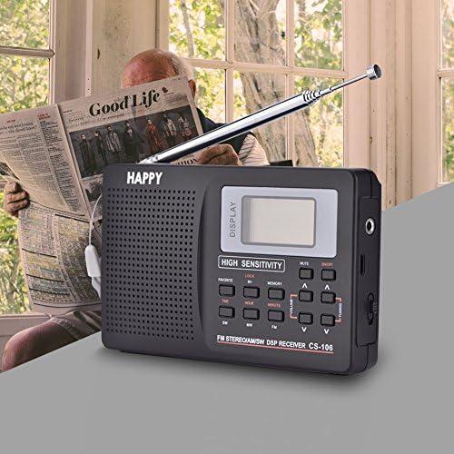 Richer-R Radio,Radio FM Digital Portable,Radio Receiver de Frecuencia Completa,Receptor de FM/Am / SW/LW / TV con Función de Reloj y Despertador(Negro): Amazon.es: Electrónica