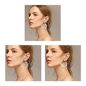 Geerier Spiral Hoop Earrings Set Vintage Tribal Swirl Earrings For Women 3 Pairs/Set