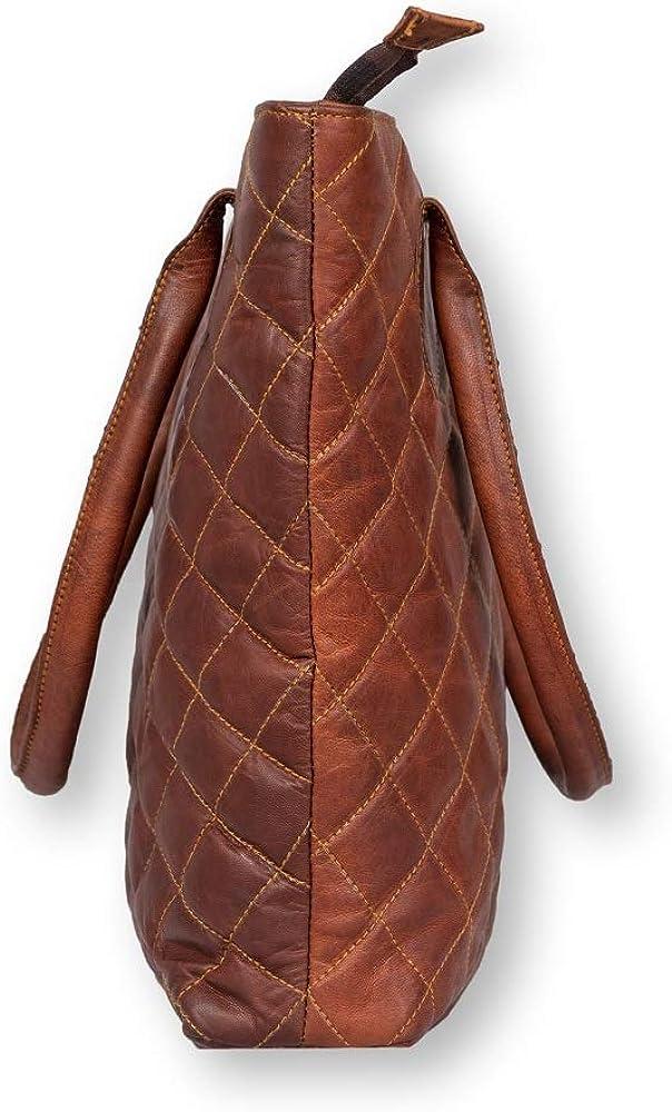 Prastara Women Vintage Style Genuine Brown Leather Crossbody Shoulder Bag Handmade Purse