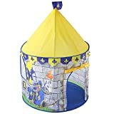 Sviper Kids Play Tunnels Castle Play Tent Kids Mini Indoor Outdoor Toys Playhouse Foldable Pop Up Tunnel Gift Toy