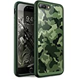 Funda iPhone 7 Plus, Carcasa iPhone 7 Plus, Supcase Unicorn Beetle Style Premium Carcasa Híbrida para Apple iPhone 7 Plus/ Apple iPhone 8 Plus (Camo / Verde)