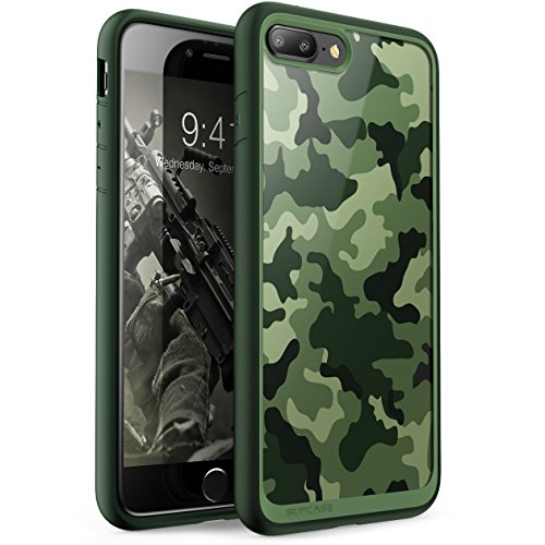 - SUPCASE iPhone 7 Plus Case, iPhone 8 Plus Case, Unicorn Beetle Style Premium Hybrid Protective Clear Case for Apple iPhone 7 Plus 2016 / iPhone 8 Plus 2017 (Green)