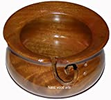Naaz Wood Arts Yarn Bowl-7x4 Rosewood -Wooden with Handmade from m Wood- Heavy & Sturdy to Prevent Slipping. Perfect Yarn Holder for Knitting & Crocheting Handi