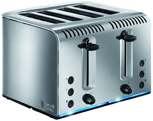 Russell Hobbs Buckingham 4-Slice Toaster 20750 - Brushed Stainless Steel