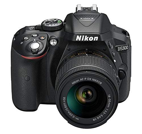 Nikon D5300 DSLR Camera with AF-P DX NIKKOR 18-55mm f/3.5-5.6G VR Lens (Black)