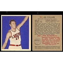 1948 Bowman Regular (Basketball) Card# 66 Jim Pollard of the Minneapolis Lakers ExMt Condition