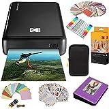 Kodak Mini2 Instant Photo Printer (Black) Gift Bundle + Paper (20 Sheets) + Deluxe Case + 7 Fun Sticker Sets + Twin Tip Markers + Photo Album + Hanging Frames