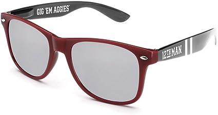NCAA Texas A/&M Aggies  TEXAM-6  Maroon// black Chrome Sunglasses One Size Maroon//Black