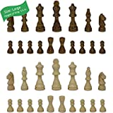 Staunton Chess Pieces by GrowUpSmart with Extra