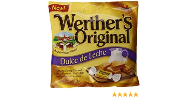Amazon.com : Werthers Original Dulce de Leche Caramels, 4.5 Ounce (Pack of 12) : Caramel Candy : Grocery & Gourmet Food