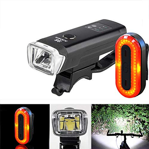 (SFL03 600LM XPG LED Smart Induction Bicycle Light STL03 100LM IPX8 Memory Mode Bicycle Taillight Set)