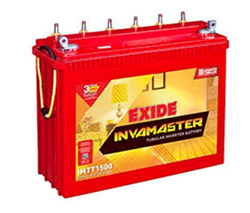 Exide Bowzar Inva Master Tubular Battery 150Ah/12 Volt (White & Red) 2021 July Color Name: White and red Item Weight: 6614gms