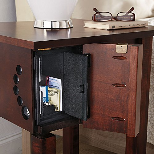 Home Defense Night Stand with Hidden Firearm Safe by Man Tables