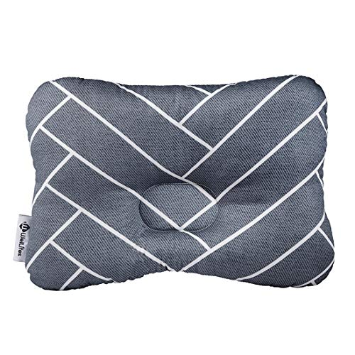 - Baby Pillow for Newborn Breathable 3D Air Net Organic Cotton, Protection for Flat Head Syndrome Gift Marble Gray