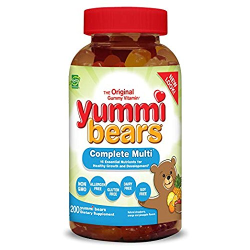 Hero Nutritional Products, Yummi Bears, Complete Multi, Natural Strawberry, Orange and Pineapple Flavors, 2 Packs (200 Yummi Bears) Child