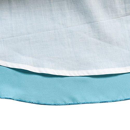 Filles Fleur Robe De Taille De Reconstitution Historique De Mariage Bleu Épaule 4-10 Ans Bleu