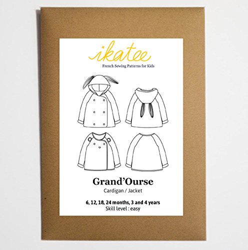 (Grand'Ourse cardigan - Baby 6M/4Y - Paper Sewing Pattern)