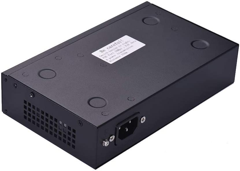 Joyshopping 4+2BZDN PoE Switch Power 4 Ethernet Port 2 Uplink Ethernet Port 1.2Gbps Over Ethernet IEEE 802.3 52V 1.34A for Cameras AP VoIP EU Plug Bla