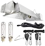 iPower Double Lamp Fixture Free Adjustable Rope