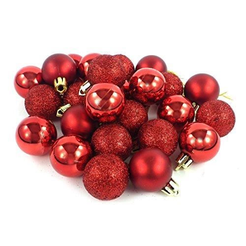 kleine minni Dekokugeln Weihnachten matt glänzend glitzernd 24 Stück 3cm