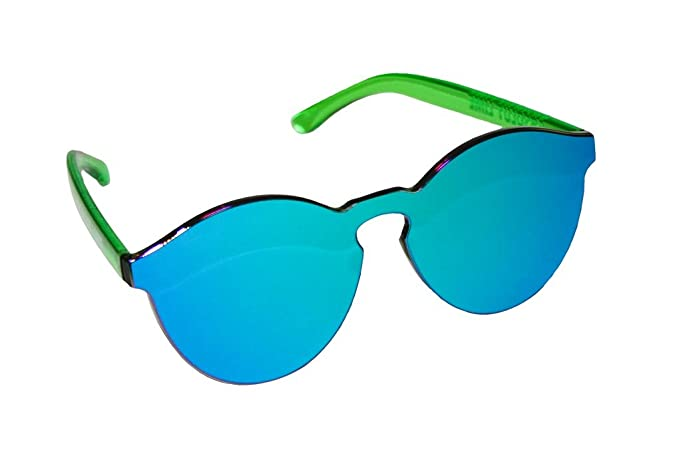 10a85b7f4fc Image Unavailable. Image not available for. Color  Absolut Lime Mirrored  Sunglasses