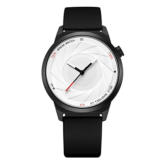 BREAK Relojes Creativos Impermeable Serie de Fotógrafos de Moda Reloj de Pulsera Deportivo de Cuarzo Simple
