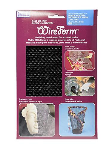 Amaco WireForm Metal Mesh Black Coated Aluminum Woven modeler's mesh - 8 mesh Mini-Pack