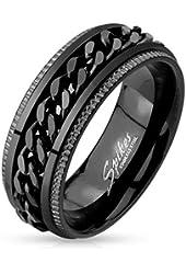 STR-0450 Stainless Steel Black IP Grooved Edge Center Chain Ring