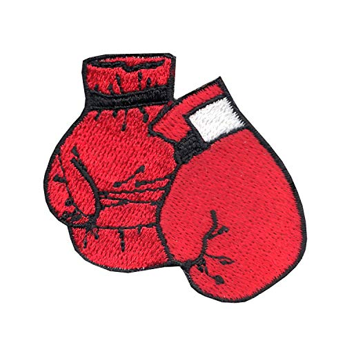 Boxing Gloves Iron On Embroidered Applique Patch