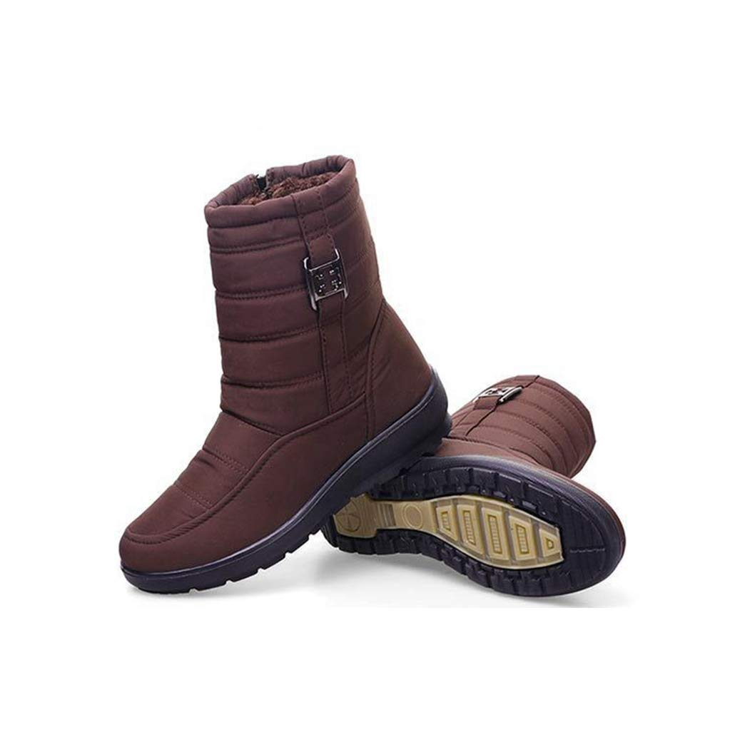 Yaloee Womens Snow Boots Winter Warm Plush Antiskid Waterproof Fashion Casual Ankle Boots