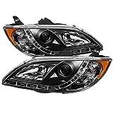Spyder Auto Mazda 3 Sedan Black DRL LED Crystal Headlight