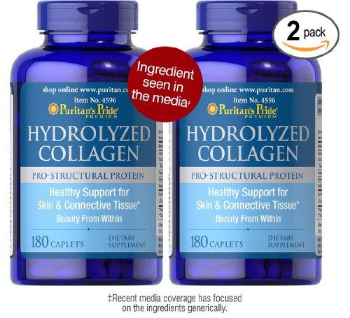 Paquet de collagène hydrolysé 1000 mg Fierté collagène hydrolysé Puritan 1000 mg-180 Capsules de Puritan Fierté 2