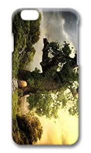 MOKSHOP Adorable fantasy house tree Hard Case Protective Shell Cell Phone Cover For Apple Iphone 6 (4.7 Inch) - PC 3D