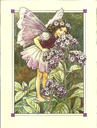 WholesaleSarong The Heliotrope Fairy Vintage Flower Fairy Art Poster Home Office Wall Art Decoration for Living Room