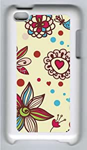 Apple iPod 4 Case and Cover - Beautiful Textures Custom Design Polycarbonate Hard Hard Plastic Case for iPod 4/ iPod 4th- White