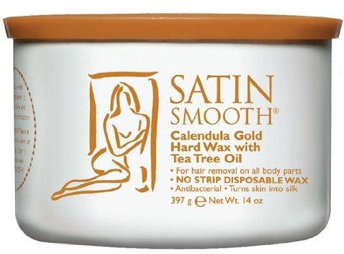 Gold Wax Hard (Satin Smooth Calendula Gold Hard Wax With Tea Tree Oil Body Care / Beauty Care / Bodycare / BeautyCare)