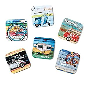 Demdaco Danny Phillips Culture of Calm Vehicle Coasters, Set of 6