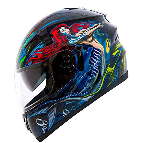 Fulmer, AF-62B22NOD, Adult Full Face Street Motorcycle Helmet w/iShade DOT/ECE Approved - Narcosis of the Deep, S