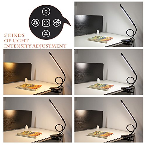 Kedsum Dimmable Led Desk Clamp Lamp 5 Lighting Modes 5