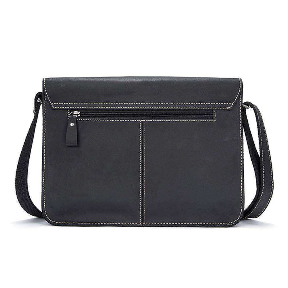 Balalafairy Lightweight Messenger Bag Men's Messenger Shoulder Bag Vintage Leather Briefcase Crossbody Day Bag for School and Work Adjustable Shoulder Strap by Balalafairy (Image #4)