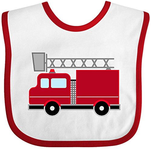 - red firefighter fire truck Baby Bib Cecil Beard