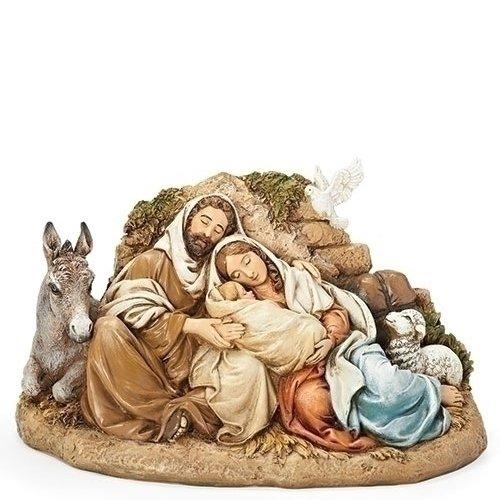 Joseph Nativity Figure - Restful Holy Family 9.5 Inch Resin Nativity Figurine