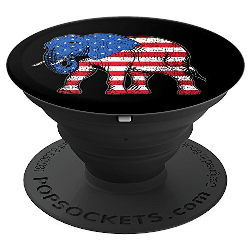 Elephant Political Conservative American Flag USA - PopSockets Grip and Stand for Phones and (Political Elephant)