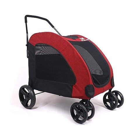 Aoligei Carrito para Mascotas Pet Stroller Carro a Gran Escala Grande Perro Lesiones Viejo Perro Sale