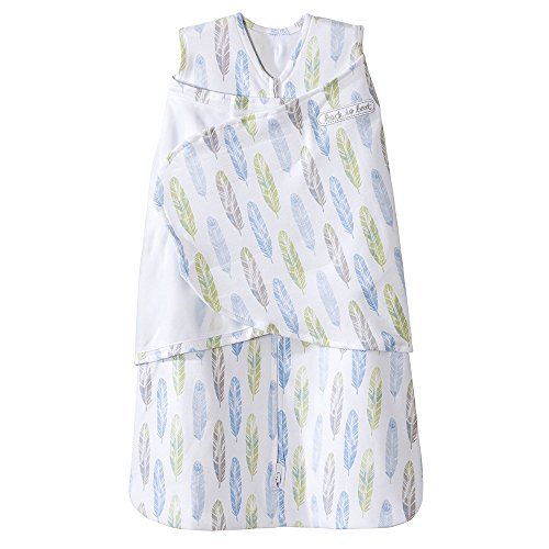 Halo 100% Cotton Sleepsack Swaddle Wearable Blanket, Feather Aloe, Small