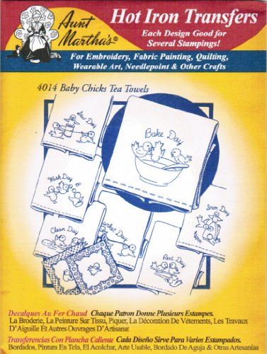 Aunt Martha's Hot Iron Transfers #4014 Baby Chicks