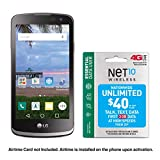 Net10 LG Rebel 4G LTE Prepaid Smartphone with Free $40 Airtime Bundle